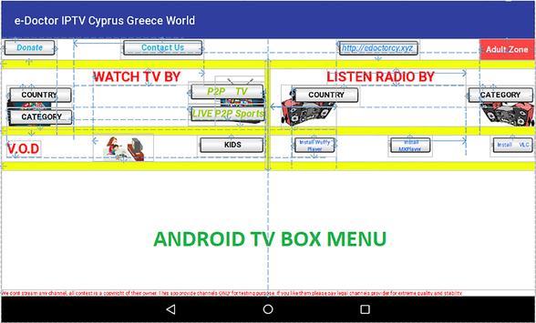 e-Doctor IPTV Cyprus/Greece TV apk screenshot