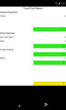 Travel Cost screenshot 1