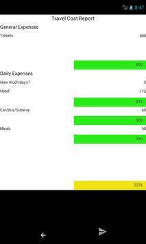 Travel Cost screenshot 3