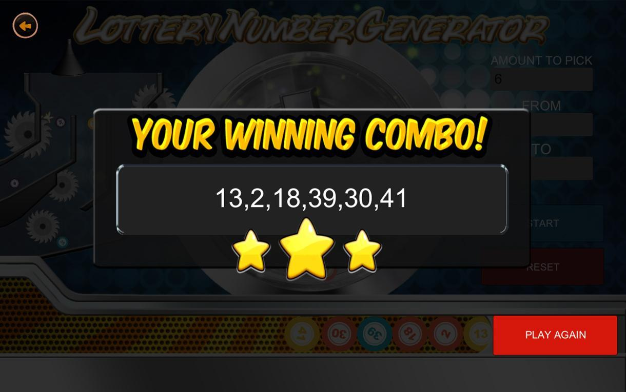 Lottery Number Generator for Android - APK Download