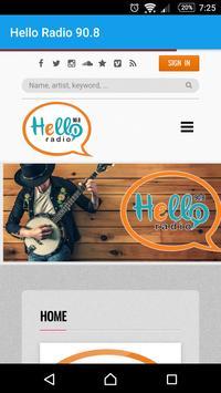 Hello Radio 90.8 poster