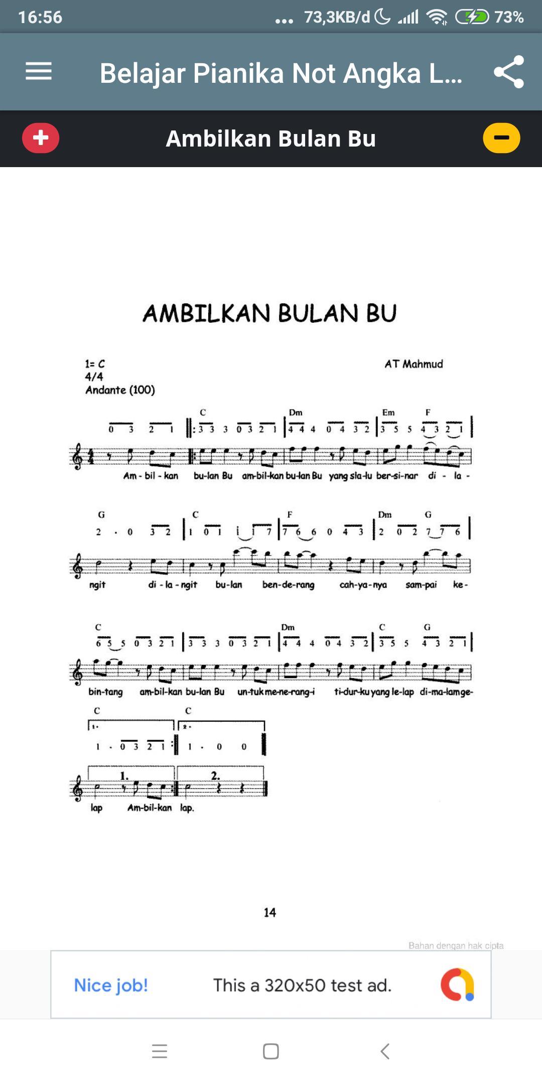Belajar Pianika Not Angka Lagu Anak For Android Apk Download