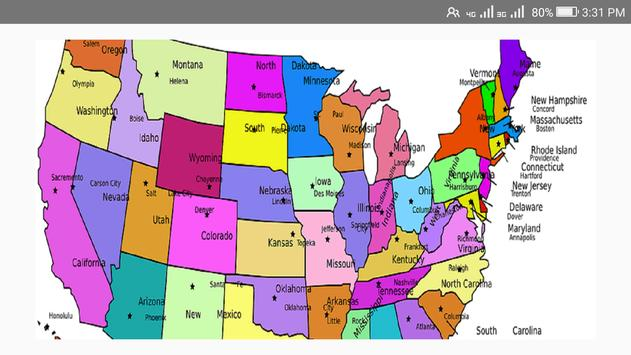 US STATES CAPITAL SYMBOLS Free APK Download Free Education APP - Map of us state capitals
