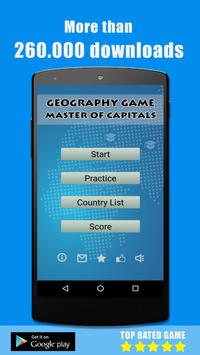 Capitals Quiz - Geography Game poster