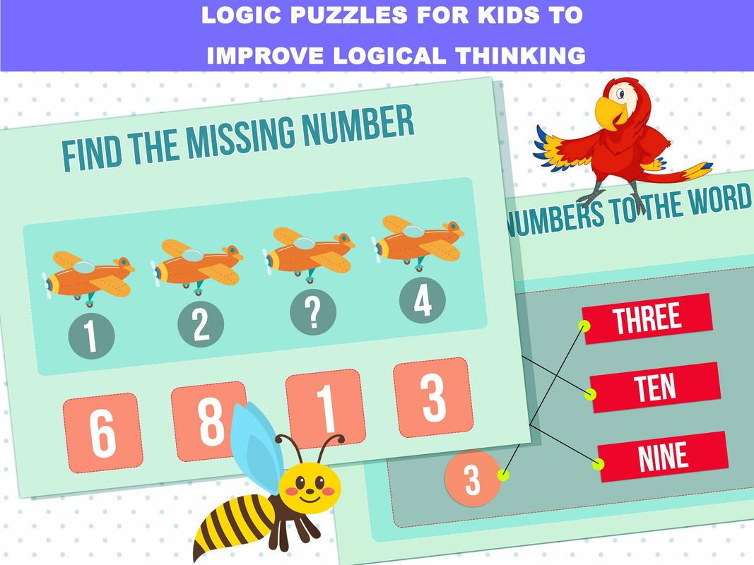 Math, Logic and Word Games For Kids for Android - APK Download
