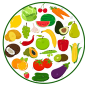 fruit and vegetables name icon