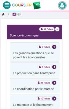 Cours.fr 1ES apk screenshot