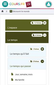 Cours.fr CP apk screenshot