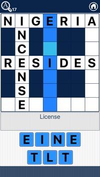 Crossword Quiz English - Word Fit Puzzle screenshot 1