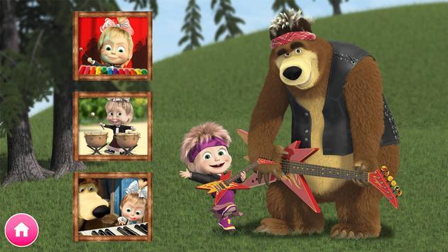 Masha e o Urso. Jogos Educativos imagem de tela 13