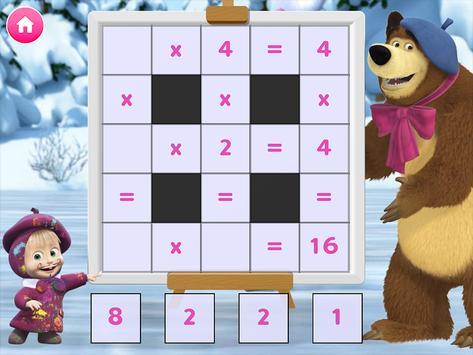 Masha e o Urso. Jogos Educativos imagem de tela 6