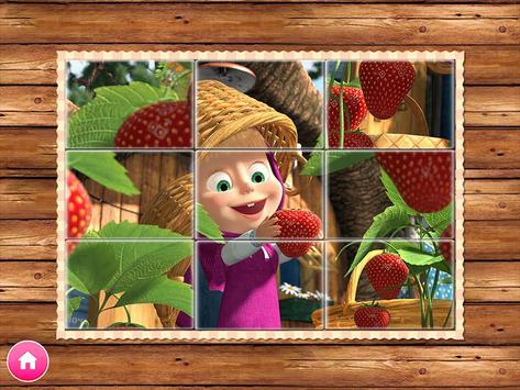 Masha e o Urso. Jogos Educativos imagem de tela 8