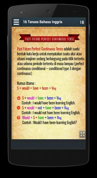 16 Tenses Bahasa Inggris apk screenshot