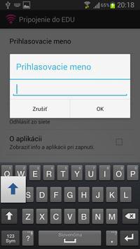 Pripojenie do EDU apk screenshot