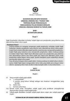 UU PPH No.36 Tahun 2008 apk screenshot