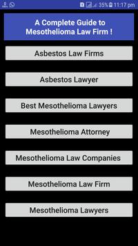 Mesothelioma Law Firm poster