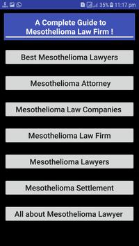 Mesothelioma Law Firm screenshot 1