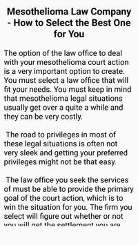 Mesothelioma Law Firm screenshot 4