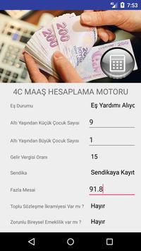 4C Maaş Hesaplama poster