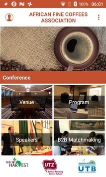 African Fine Coffees Association Conference poster