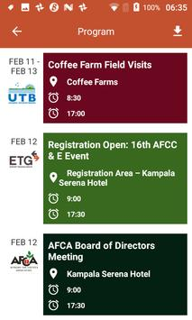 African Fine Coffees Association Conference screenshot 2