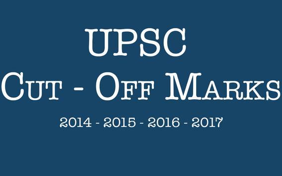 UPSC preparation - UPSC Cut Off poster