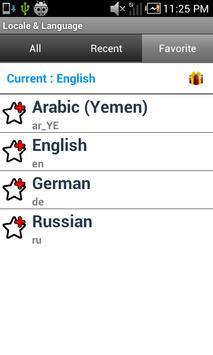 Set Locale & Language apk imagem de tela