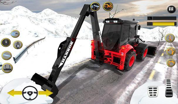 Clean Road 3D Snow Heavy Excavator Crane Rescue screenshot 11