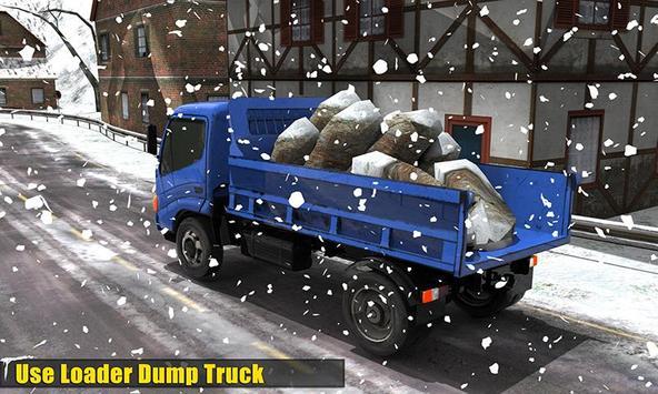 Clean Road 3D Snow Heavy Excavator Crane Rescue screenshot 1