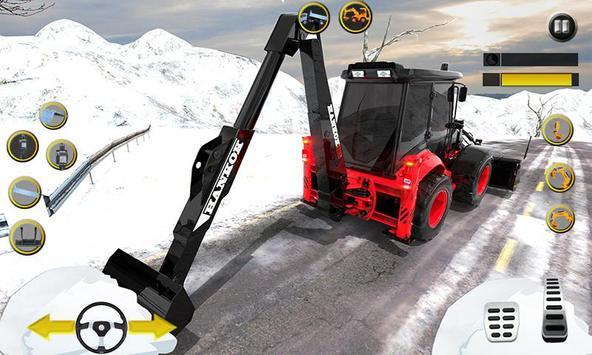 Clean Road 3D Snow Heavy Excavator Crane Rescue screenshot 3