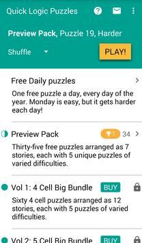 Quick Logic Puzzles capture d'écran 3
