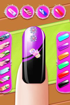 Nail Paint Salon Makeover : Girls Fashion Game poster