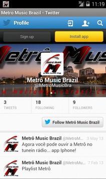Metro Music Brazil screenshot 3