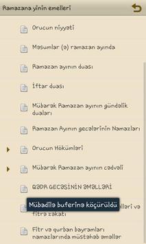 Ramazan ayinin emelleri apk screenshot