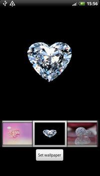 Diamond Heart Live Wallpaper screenshot 1
