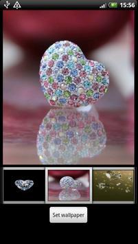 Diamond Heart Live Wallpaper screenshot 2
