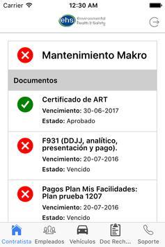 EHS - Control de Contratistas screenshot 2