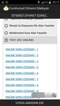 Cumhuriyet Dönemi Edebiyatı apk screenshot