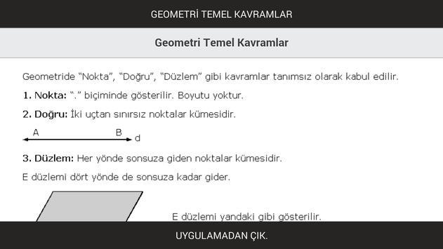 Geometri Temel Kavramlar poster