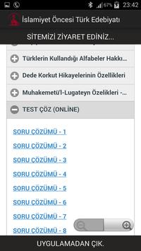 İslamiyet Öncesi Edebiyat apk screenshot