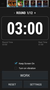 Boxing Interval Timer FREE apk screenshot