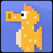 Hungry Seahorse - 8bit Retro Arcade Game icon