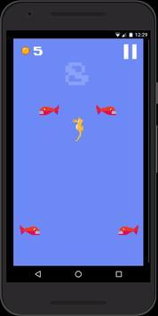 Hungry Seahorse - 8bit Retro Arcade Game poster