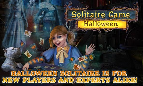 Solitaire Game.Halloween Free poster