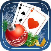 Solitaire Game. Christmas Free icon