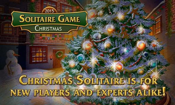 Solitaire Game. Christmas Free poster
