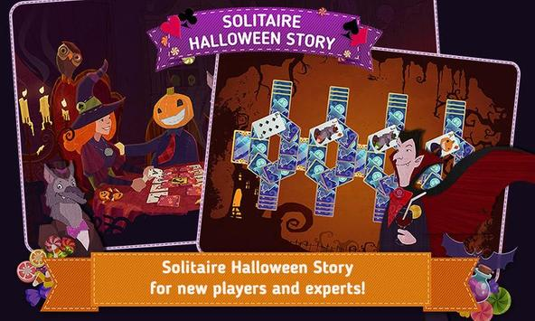Solitaire Halloween Story Free poster