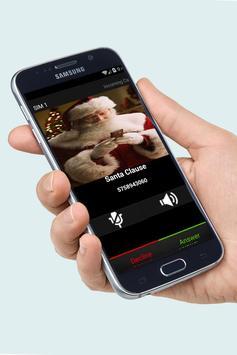 Santa Clause Fake Call Free poster