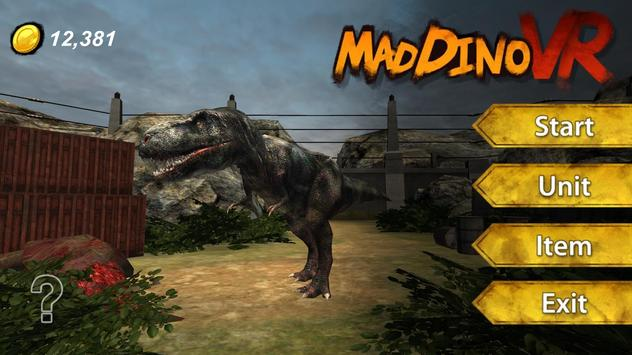 Mad Dino VR poster
