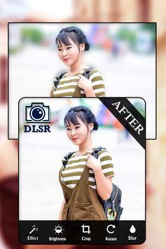 DSLR Camera - HD Blur Photo Editor apk screenshot